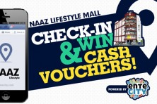 Check-in at Naaz Lifestyle and win Cash Vouchers