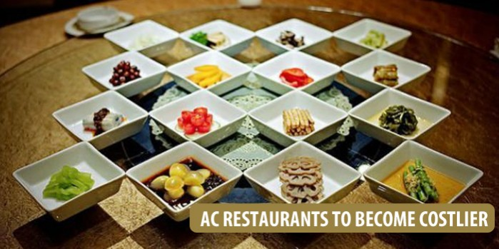 Dining out in A/C restaurants will become costlier