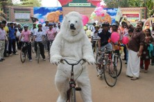 Indus Cycling Embassy at the 'Save Arctic' campaign, Trivandrum