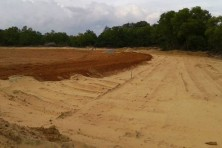 Work in progress at the new stadium in Thumba, Photo Courtesy: Anikuttan
