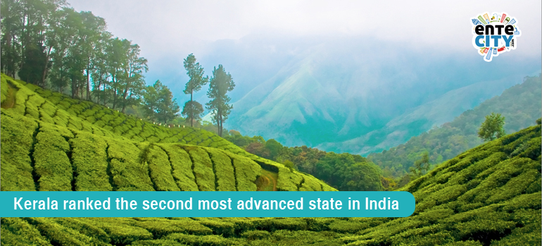 Kerala ranked the second most advanced state in India