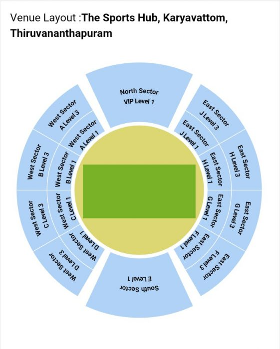 Sports Hub Seating Layout