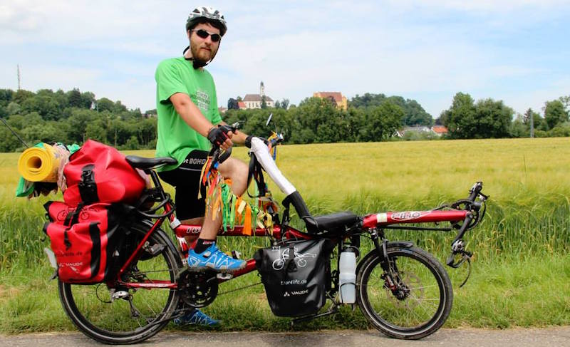 This Man is cycling all the way from Germany to Trivandrum to bring a positive change!