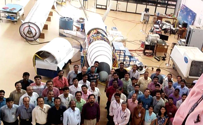 ISRO Engineers with RLV, Source: NDTV