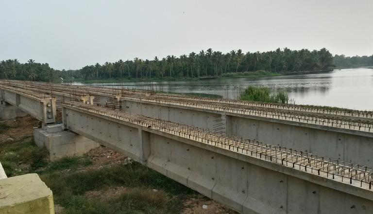 Akkulam Bridge under construction, Photo Credit: Lord Darklord @ SSC