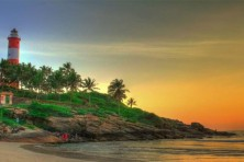Kovalam getting ready for tourist season! Beautification and clean-up drive in progress!