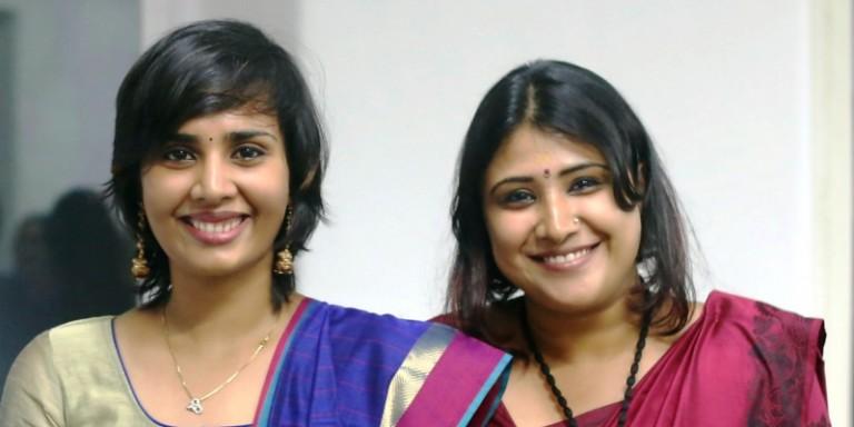 Aardra (Left) and Gayathri (Right)