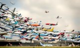 Composite shot of hundreds of planes taking off at Hanover Airport! Photo by Studioidefix, Reddit